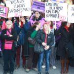 Ankara'da Kadınlar şiddete ve savaşa karşı yürüdü