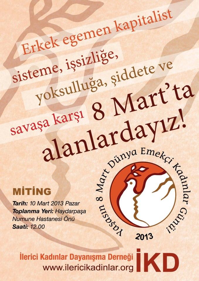 İKD 8 Mart Eylem ve Etkinlik Programı