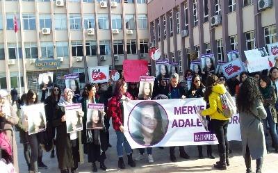 Kadınlar Aydın'da görülen davada Merve Kotan için adalet talep etti