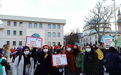 8 Mart'ta alanlarda sokaklarda örgütlü mücadelede…